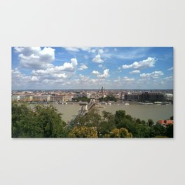 Budapest /Danube River/ Summer/ sunshine Canvas Print