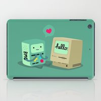 bmo iPad Cases featuring BMO & Macintosh by solostudio