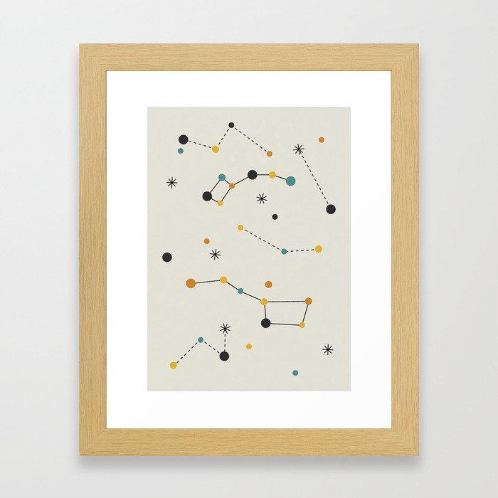 Ursa Major & Ursa Minor Framed Art Print