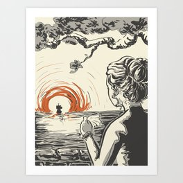 Once, I Hated the Sun Art Print