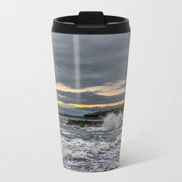 Seaburn and Roker Lighthouses Travel Mug