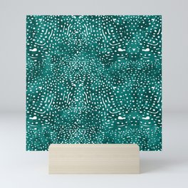 Whale Shark Skin (Teal and White Color) Mini Art Print