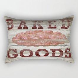 Rustic Baked Goods Bread Kitchen Art A298 Rectangular Pillow
