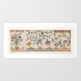Flower borders, Jan Brandes, 1770 - 1808 Art Print