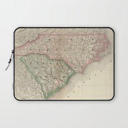 Vintage Map of The Carolinas (1879) Laptop Sleeve