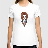 scully T-shirts featuring dana scully by Bunny Miele