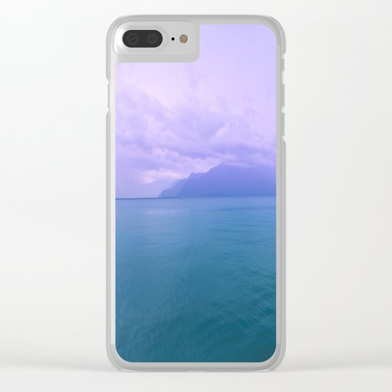 Wild Nature with Lake and Mountains Clear iPhone Case