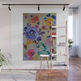 Watercolor Florals Wall Mural
