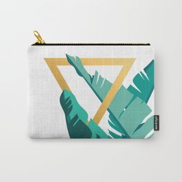 Tropical leafs with golden triangle Carry-All Pouch