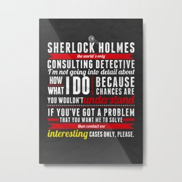 Interesting Cases Only Metal Print