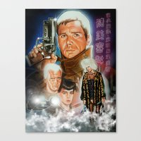 blade runner Canvas Prints featuring Blade runner by calibos