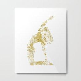 Ustrasana GOLD minimalism Metal Print