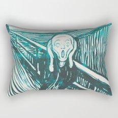 The Scream's Haze (light blue) Rectangular Pillow