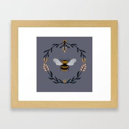 Ode to the Bumblebee (in lavender) Framed Art Print