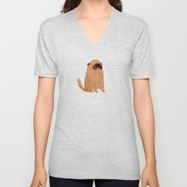 Brown Doggy Unisex V-Neck