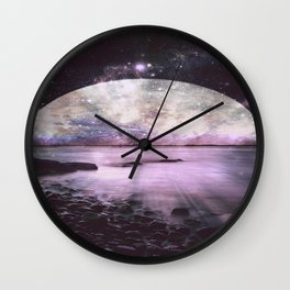 Mystic Lake Lavender Wall Clock