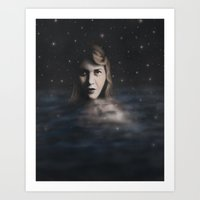 sylvia plath Art Prints featuring Sylvia Plath by JacquelinePatrice