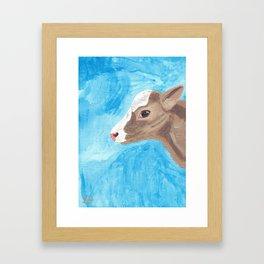 A Heifer Calf Named Keely Framed Art Print