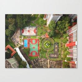 Singapore aerial drone Canvas Print