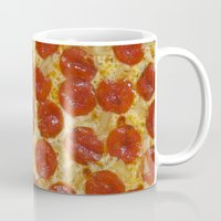pizza Mugs featuring Pizza by Callmepains