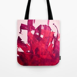 Embers: a vibrant abstract piece in pinks Tote Bag