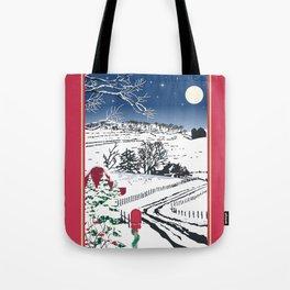 Silent Winter Night Silhouette Tote Bag