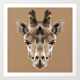 Giraffe Sym Art Print