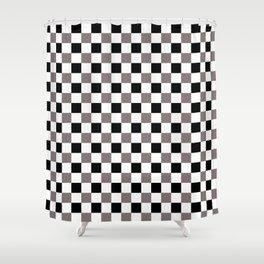 Trippy Checkerboard Shower Curtain