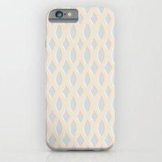 Light Blue and Cream Design iPhone 6s Slim Case