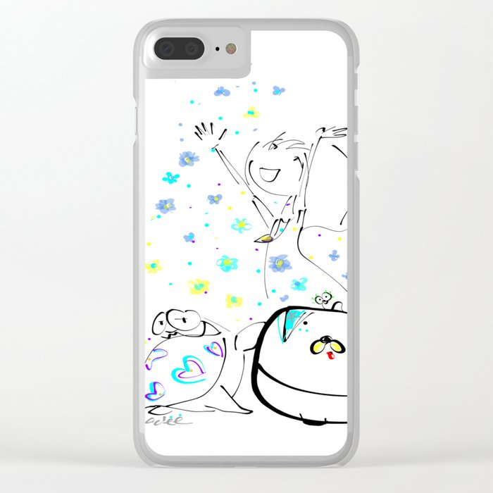 raining flowers Clear iPhone Case