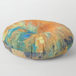 Jellyfish Abstract Floor Pillow