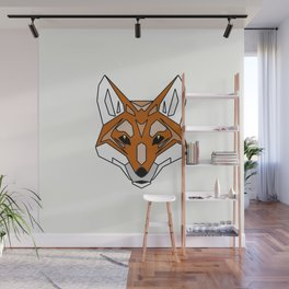 Geometric Fox - Abstract, Animal Design Wall Mural