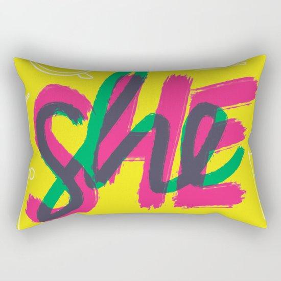 SHE [I] Rectangular Pillow