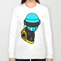 lichtenstein Long Sleeve T-shirts featuring Daft Punk by Alli Vanes