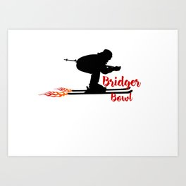 Ski speeding at Bridger Bowl Art Print