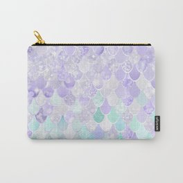 Mermaid Iridescent Purple and Teal Pattern Carry-All Pouch