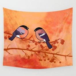 Bullfinch (Pyrrhula pyrrhula) Wall Tapestry