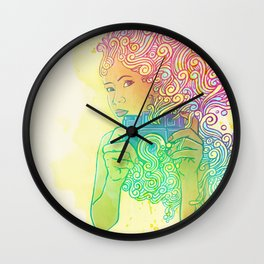 Doodle shot Wall Clock
