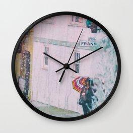 Psychedelic Rains Wall Clock