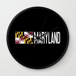 Maryland: Marylander Flag & Maryland Wall Clock