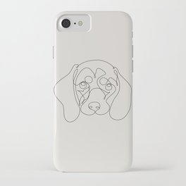 One Line Dachshund iPhone Case