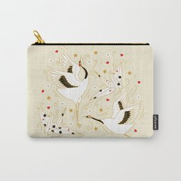 Origami Crane Metamorphosis (Cream) Carry-All Pouch