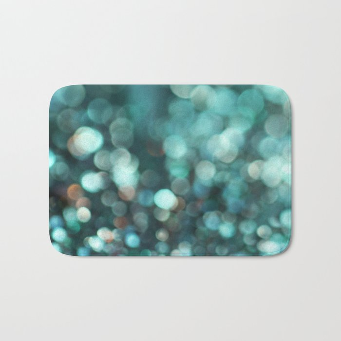 MERMAID GLITTER EMERALD Bath Mat