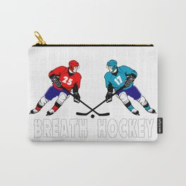 Fighting hockey players Carry-All Pouch
