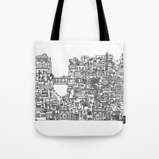Busy City V Tote Bag