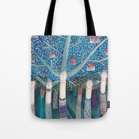 central park Tote Bags featuring Central Park by kürtiandi