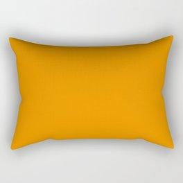 Simply Tangerine Orange Rectangular Pillow
