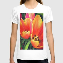 Coral Tulips in Bloom T-shirt