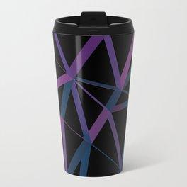 3D Futuristic GEO Lines Travel Mug