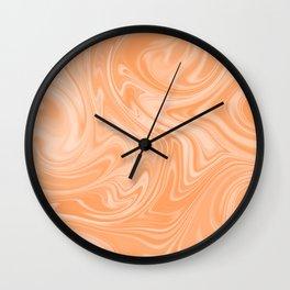 Creamsicle Color Melt Wall Clock